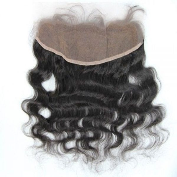 Hair By Mahogany 100% virgin luxury hair frontal in body wave texture.
