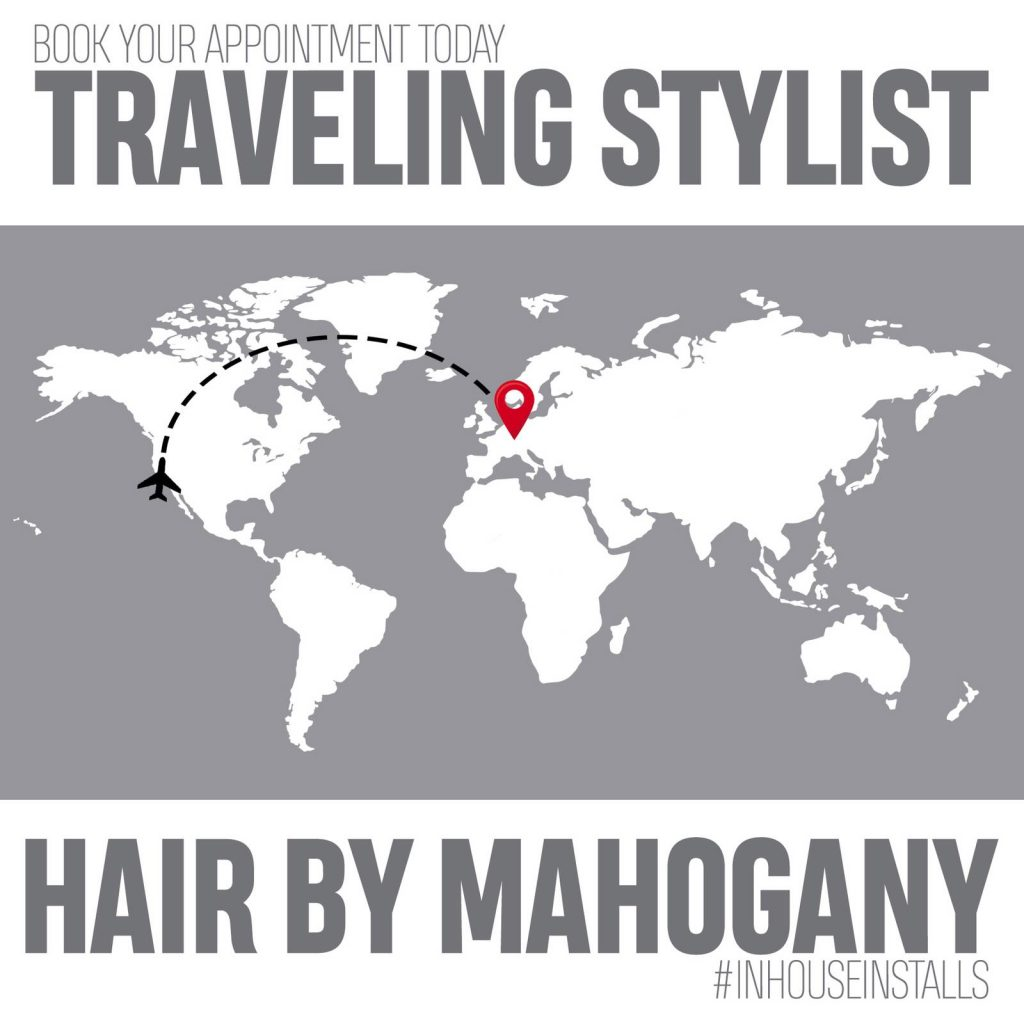 Hair by Mahogany Traveling Stylist booking in Ramstein, Germany area. Appointment in Kaiserslautern Military Community.