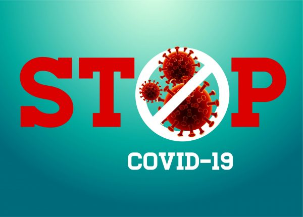STOP COVID-19 SIGN